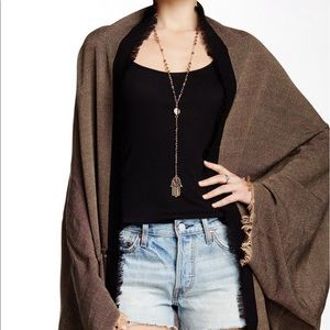 Free People Cocoon Wrap Kimono in Taupe